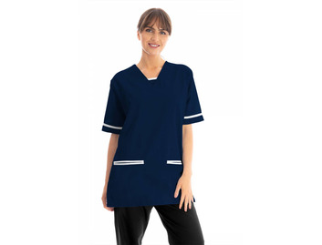 Unisex Scrub Top Navy Blue 145gsm