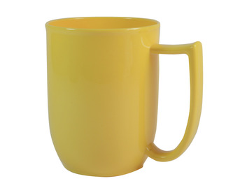 108D Unbreakable mug with large handle Yelllow