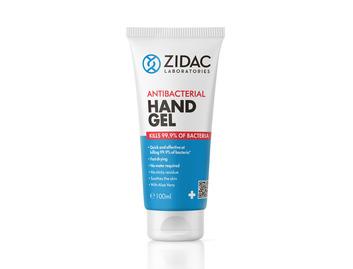 Zidac 70% Antibac Hand Gel 100ml Tube