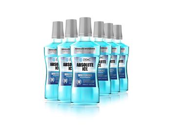 Zidac Absolute Ice Mouthwash Whitening 500ml x6 Bottles