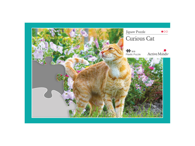 005A 13 Piece Jigsaw Curious Cat