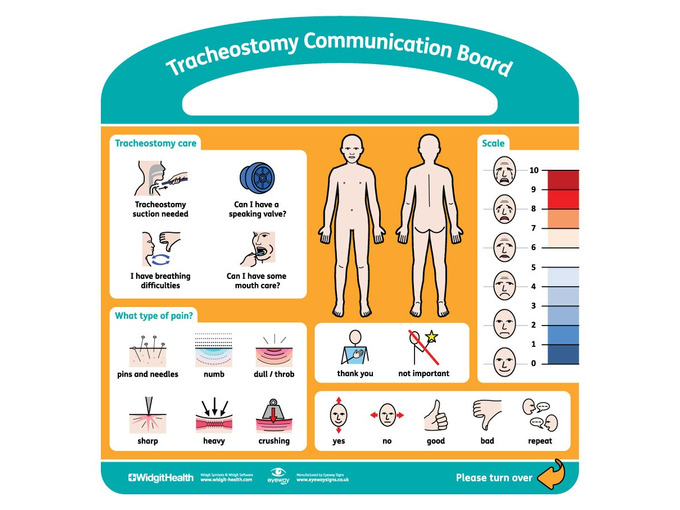 Tracheostomy Communication Board