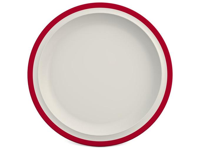 003D Melamine 26 cm Plate - Rim Colour