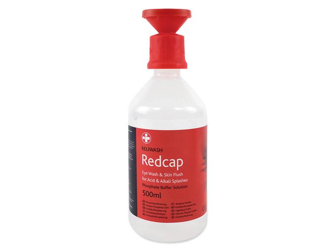 10 x Reliwash Redcap 500ml Bottle with Eye Cap