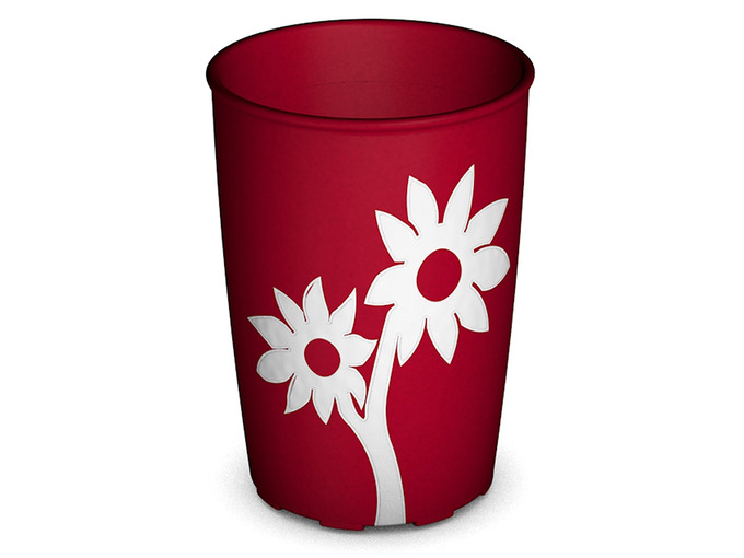202D Non-Slip Cup with Flower