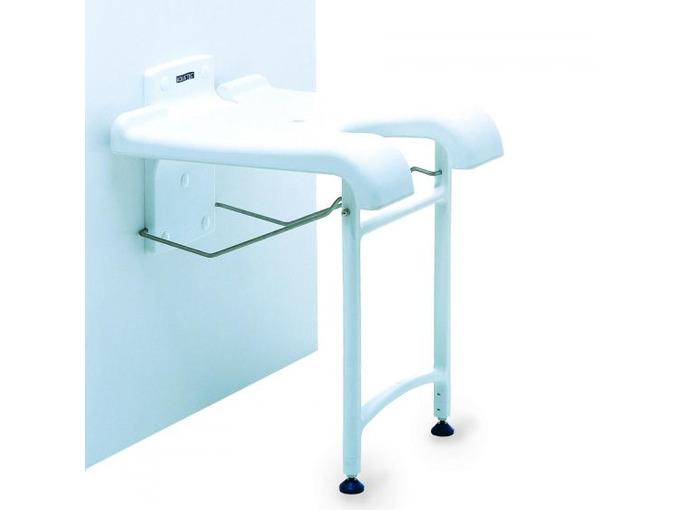 C Aquatec Sansibar wall mounted shower stool with hygeine recess