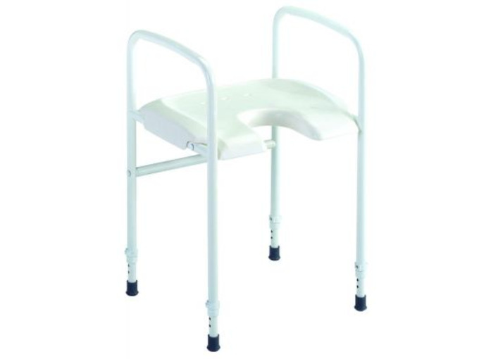 C Alize Basic height ajustable shower stool with hand rails