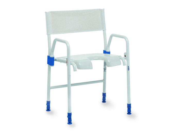 C Aquatec Galaxy foldable shower chair with hygiene recess