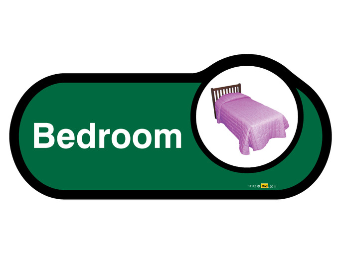 Bedroom 1 Signage non Interchangable