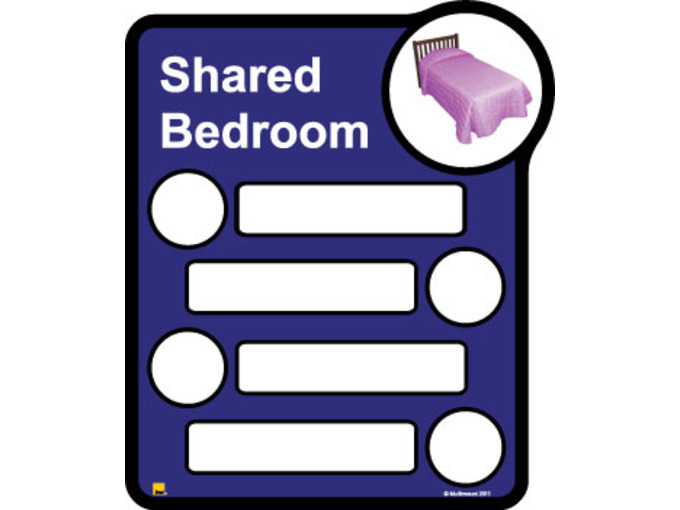 Bedroom 4 Signage Shared By Four
