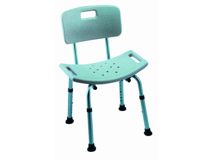 Cadiz adjustable shower stool with backrest (Pack of 2 )