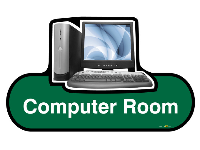 Computer Room Sign