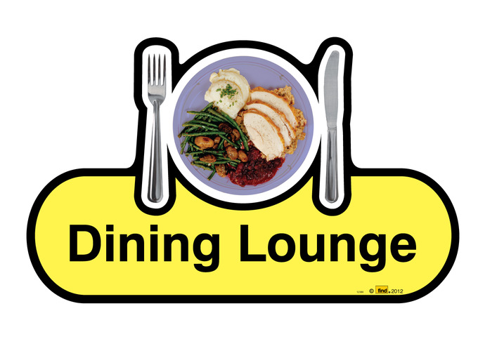 Dining Lounge Sign