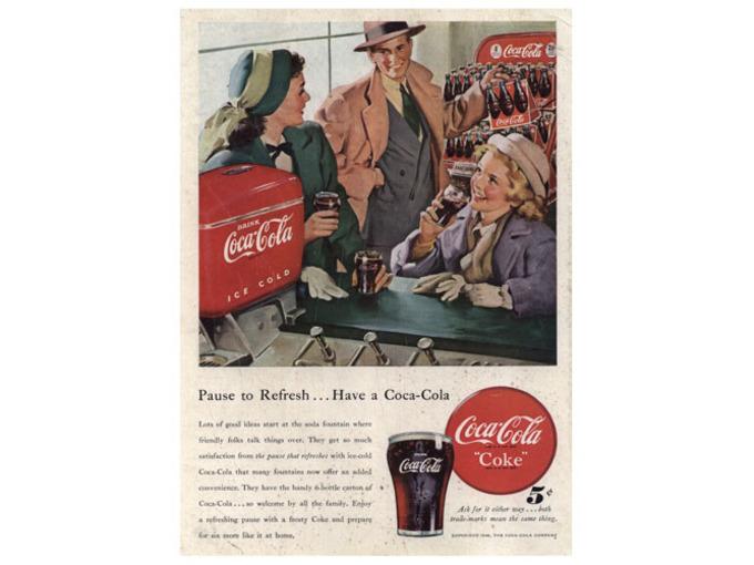 "Coca Cola ""Pause to Refresh"" (FO024)"