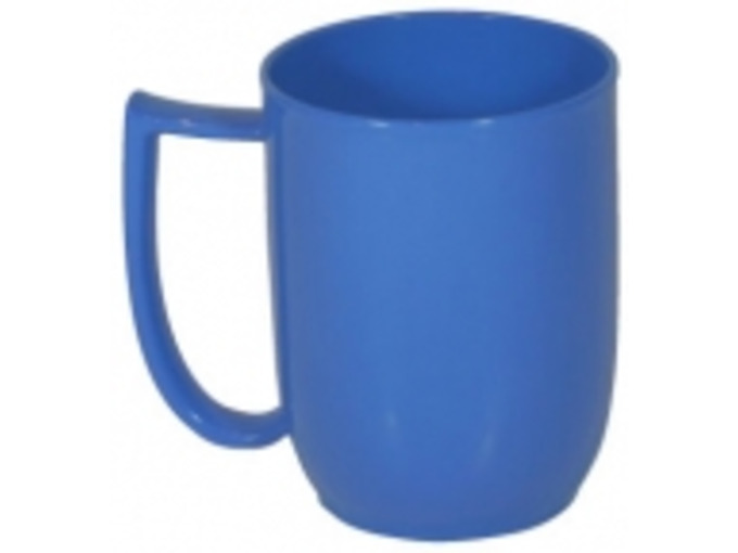 107D Unbreakable mug with large handle blue