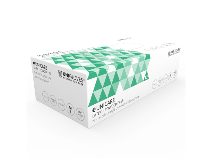 Unigloves Latex Powder-Free Gloves: Small