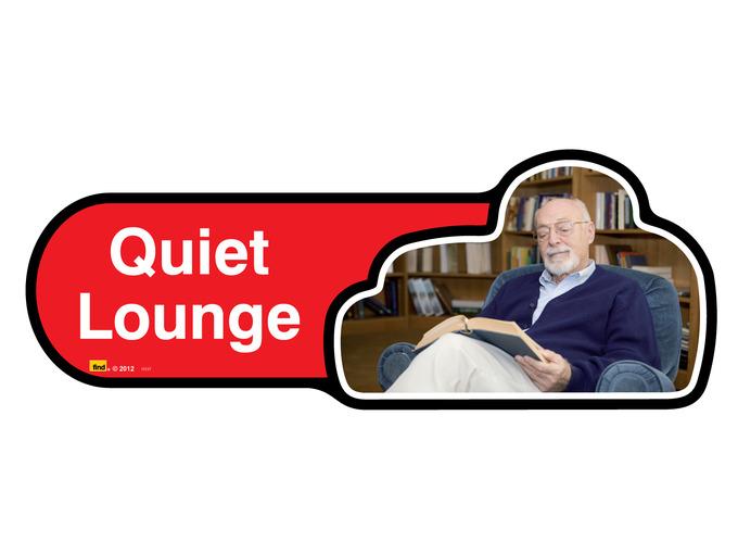 Quiet Lounge Sign