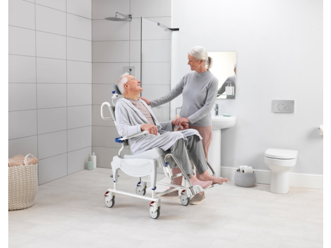 Aquatec Ocean VIP shower chair commode