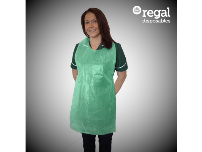 V04 Green Disposable Aprons