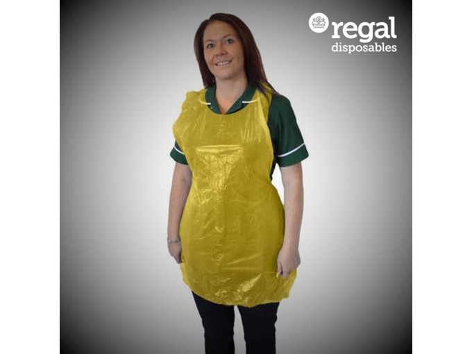 V05 Yellow Disposable Aprons