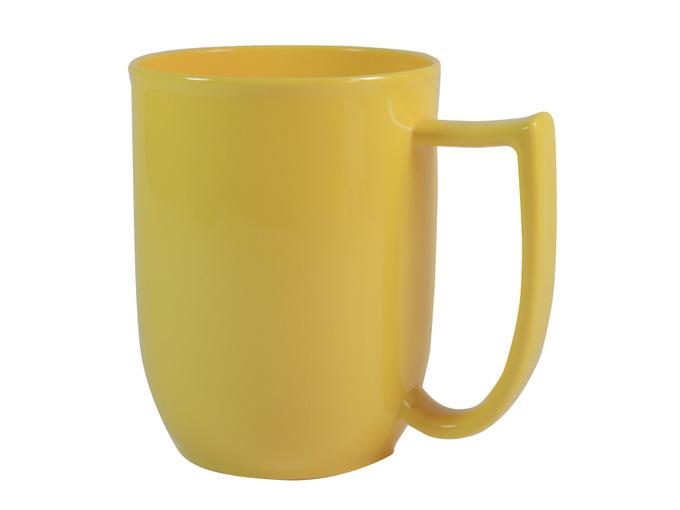 108D Unbreakable mug with large handle Yelllow