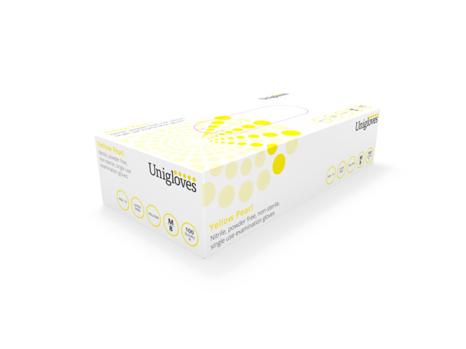Pearl Yellow Nitrile Gloves case of 1000 (10 Boxes of 100)