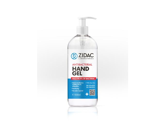 Zidac 70% Antibac Hand Gel 500ml Pump Bottle