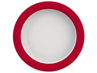 Melamine Plate with Sloped Base 20 cm - Red