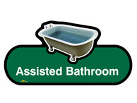 Assisted Bathroom Sign
