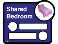 Bedroom 2 Signage Shared By Two