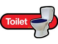 X01-Toilet blue seat
