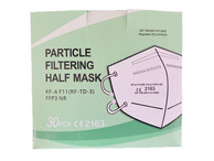 FFP3 Fold Flat Face Mask (Internal nose band) (Qty 30)