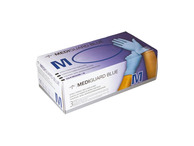 MediGuard Blue Nitrile Powder Free Exam Gloves (Box of 200 Medium Gloves)