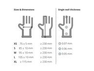 Unigloves Clear Vinyl Gloves: Medium
