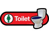 X03-Toilet F Symbol Blue Seat