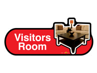 Visitors Room Sign